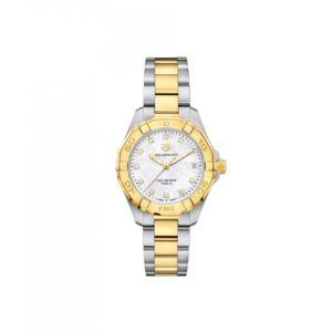 Aquaracer Ladies Two-Tone white MOP Diamond Dial Watch