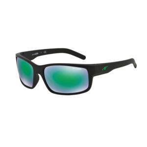 Fastball Sunglasses - Fuzzy Black/Mirror Green