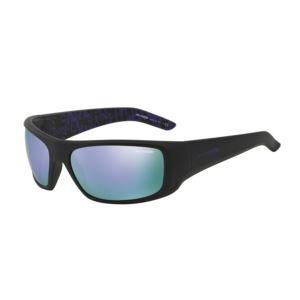 Hot Shot Sunglasses - Fuzzy Black/Mirror Violet