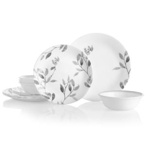 Misty Leaves 12pc Round Dinnerware Set