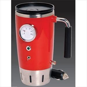 12 Volt Retro Heated Travel Mug-Red