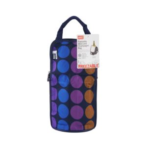 NY IceTec Freezable Wine And Champagne Chiller Bag - Plum Dot