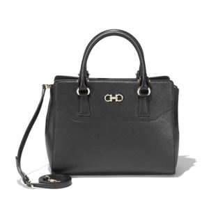 Womens - Small Double Gancio Tote - Black