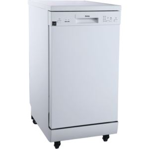 "Energy Star 18"" Portable Dishwasher with 4 Wash Programs in White"