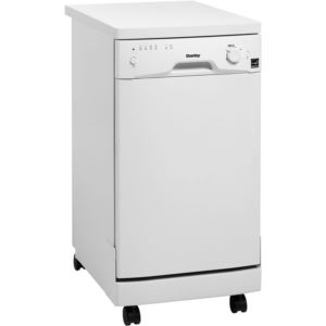 "Energy Star 18"" Portable Dishwasher in White"