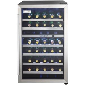 Designer 38-Bottle Free-Standing Dual-Zone Wine Cooler - Black