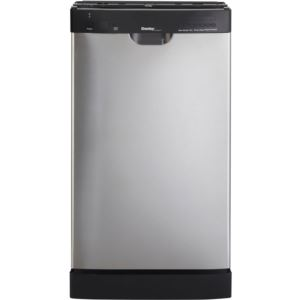 "Energy Star 18"" Built-in Dishwasher in Black/Stainless Steel"