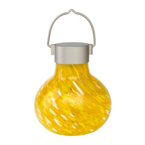 Solar Glass Tea Lantern - Saffron-
