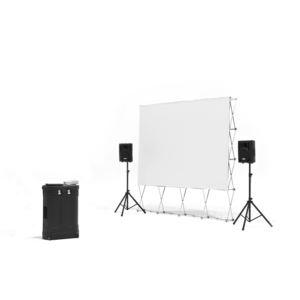 12' Quickscreen Series w/Optoma 720p projector