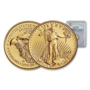 Coin-USA/American Eagle $5 Liberty Coin-Set of 3 coins