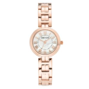 Women's Rose Gold and Mother of Pearl Dial Watch