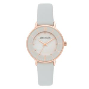 Women's Grey Pearl Leather Watch