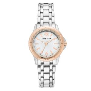 Women's Rose Gold and Silver Metal Watch