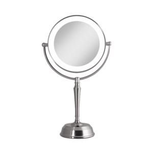 LED Lighted Vanity Mirror with Rechargeable Battery & USB Port 10X/1X