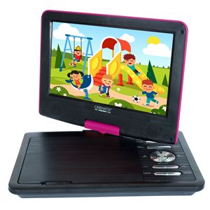 "Cinematix Portable 9"" DVD Player-Pink"