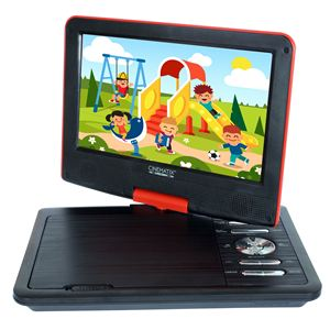 "Cinematix Portable 9"" DVD Player-Red"