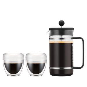 3pc Bistro French Press Coffeemaker Set