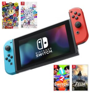 Switch Video Game System With 4 Games
