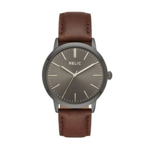 Men's Jeffery Quartz Metal and Leather Casual Watch