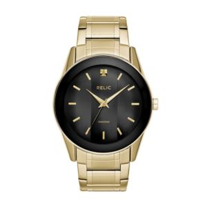 Men's Rylan Quartz Gold-Tone Stainless Steel Diamond Accent Dress Watch