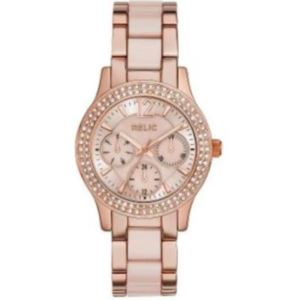 Relic Bethany Womens Crystal-Accent Rose-Tone Bracelet Watch