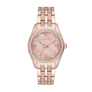 Women's Iva Rose Gold-Tone Stainless Steel Pave Glitz Watch