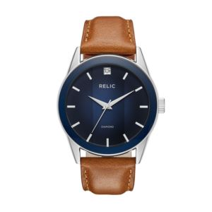 Mens Brown Leather Bracelet Watch