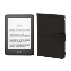 "Kindle E-Reader 6"" WiFi 4GB w/ Special Offers + Leather Cover"