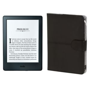"Kindle E-Reader 6"" WiFi with Special Offers + Leather Cover"