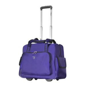 Olympia USA Fashion Rolling Overnighter, Purple