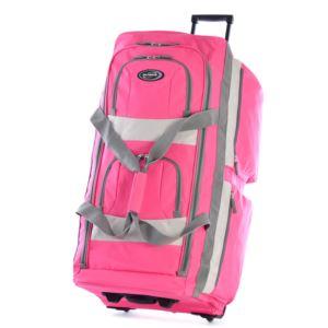 "29"" 8 Pocket Rolling Duffel  Hot Pink"