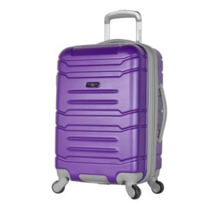 "Olympia USA Denmark 21"" Expandable Hardcase Carry-On"", Purple"
