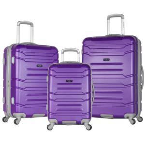 Olympia USA Denmark 3-Piece Spinner Set W/Hidden Compartment Purple