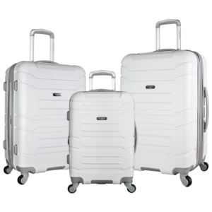 Olympia USA Denmark 3-Piece Spinner Set W/Hidden Compartment White