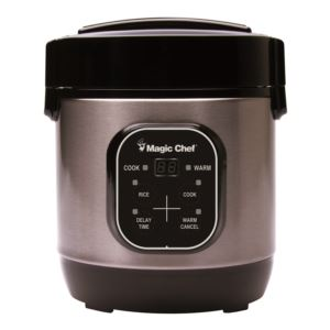 3 Cup Digital Rice Cooker - Stainless Steel