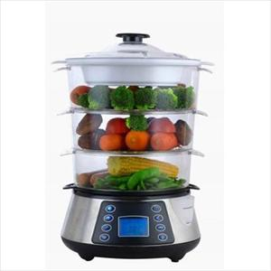 Magic Chef 12.2 Quart 3 Tier Food Steamer