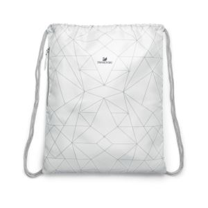 Nylon Drawstring Bag - (White)