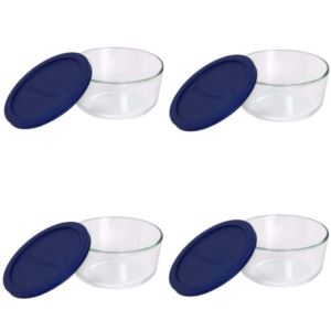Simply Store 4-Cup Round - Blue Lids (4 Pack)