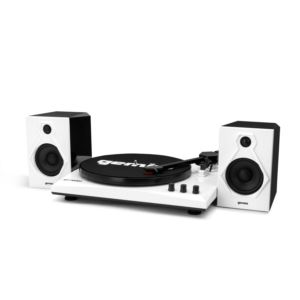 Vinyl Record Player Turntable with Bluetooth and Dual Stereo Speakers