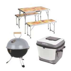 Pack Away Picnic Table w/ Party Ball Grill & 36-Can Bucket