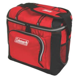 9 Can Soft-Sided Cooler w/ Plastic Liner Red