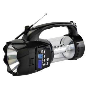 Emergency Flashlight Radio With USB Black