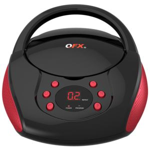 Portable AM FM Radio CD Player Red