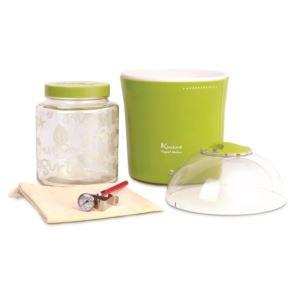 Yogurt & Greek Yogurt Maker w/2qts Container, Thermometer, Cotton Bag, Glass Jars, Green