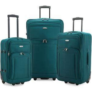 Elite Gondola 3-Piece Softside Rolling Luggage, Teal