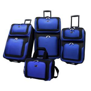 U.S. Traveler New Yorker 4-Piece Luggage Set in Blue