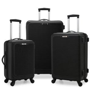 Elite Sunshine 3-Pc. Hardside Spinner Luggage Set, Black