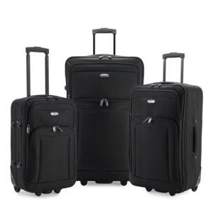 Elite Gondola 3-Piece Softside Rolling Luggage, Black