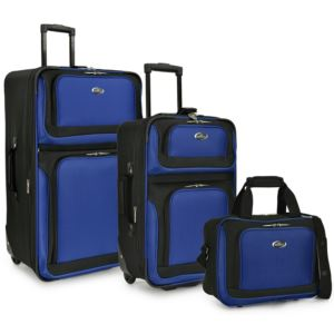 U.S. Traveler New Yorker 3-Piece Rolling Luggage Set, Blue
