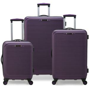 Elite Sunshine 3-Pc. Hardside Spinner Luggage Set, Purple